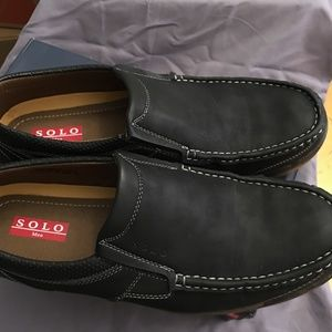 Solo Men's Casual Comfort Loafers Black 11